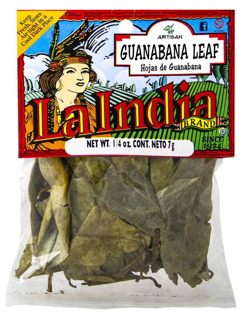 Guanabana Leaf (Hojas de guanabana) Cello Bag 0.25oz (Unit)